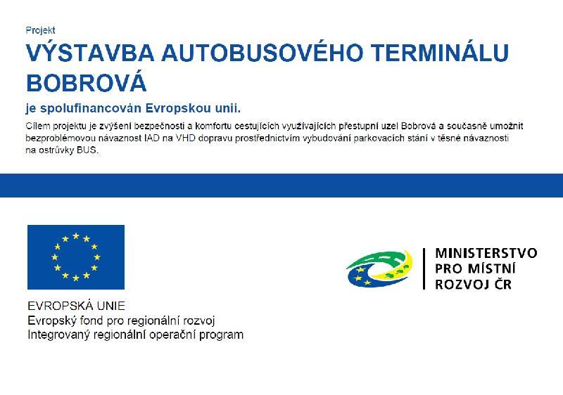 Výstavba autobusového terminálu Bobrová