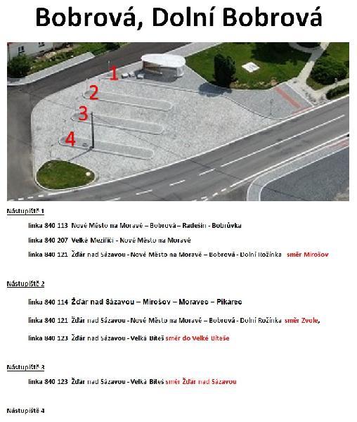 Otevření autobusové zastávky na Dolní Bobrové